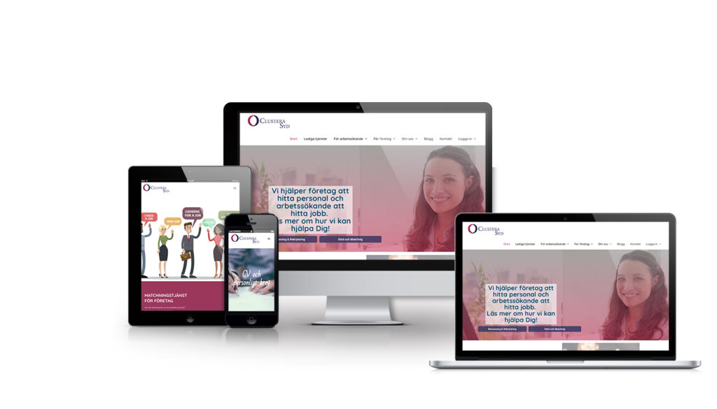Clustera Syd, webbdesign, webbyrå, hemsida